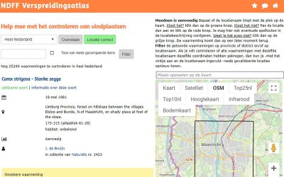 Geocoding van de Nederlandse botanische collectie van Naturalis